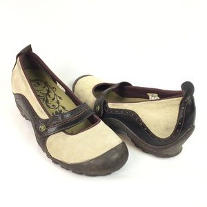 MERRELL | Plaza suede Mary Jane wedge shoes sz 8